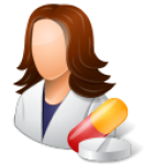 Medical-Pharmacist-Female-Light-icon